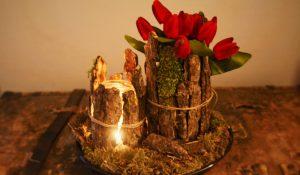 Vase aus Baumrinde